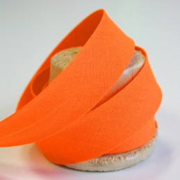 Biais de coton uni orange