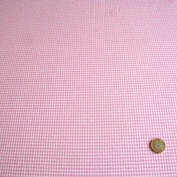 Vichy rose & blanc (carreaux 2 mm)