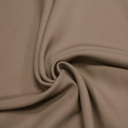 Tissu Polyester infroissable taupe