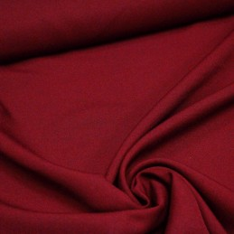 Tissu Polyester infroissable rouge carmin