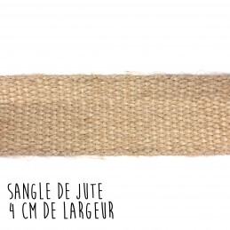 Sangle de jute 4 cm de large