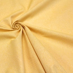 Tissu Lurex jaune moutarde Lurex or