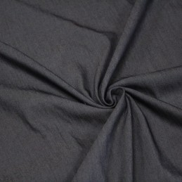 Tissu Chambray de viscose gris anthracite - Oeko Tex