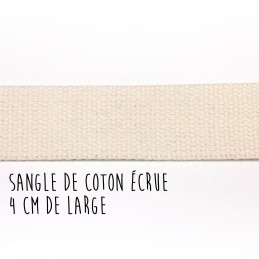 Sangle de coton écrue, 4 cm de large