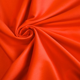 Satin de coton orange uni