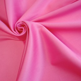Satin de coton rose uni