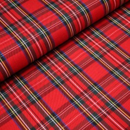 "Tissu Habillement, authentique Tartan ""Royal Stewart"" rouge"