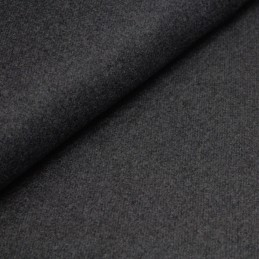 Tissu Lainage gris anthracite uni, fabrication italienne