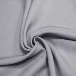 Tissu Polyester infroissable gris clair