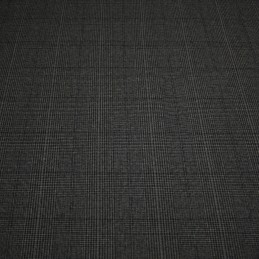 Tissu polyester Prince de Galles gris anthracite, taupe & noir